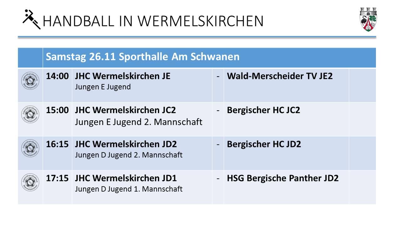 Handball in WK am 26.11