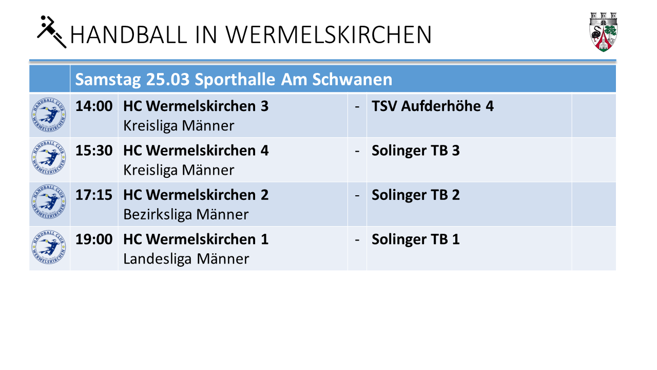 Handball Am Schwaen am 25.3