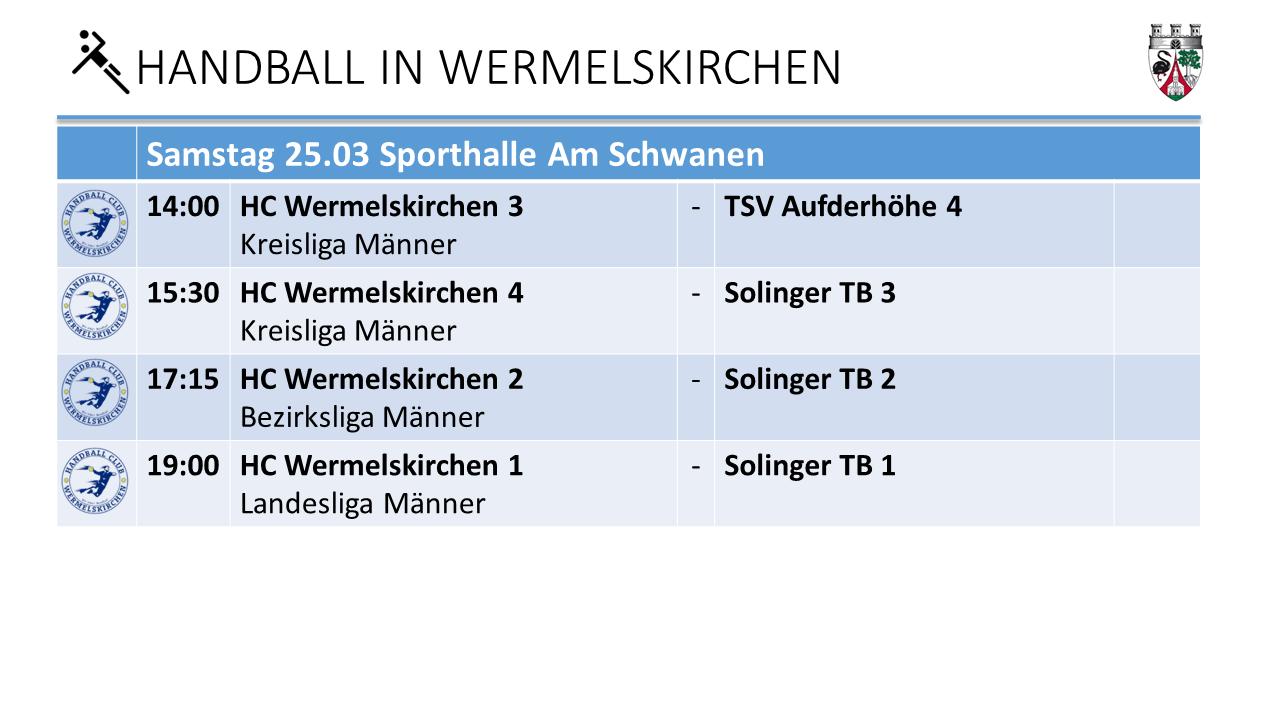 Handball Am Schwaen am 25.3