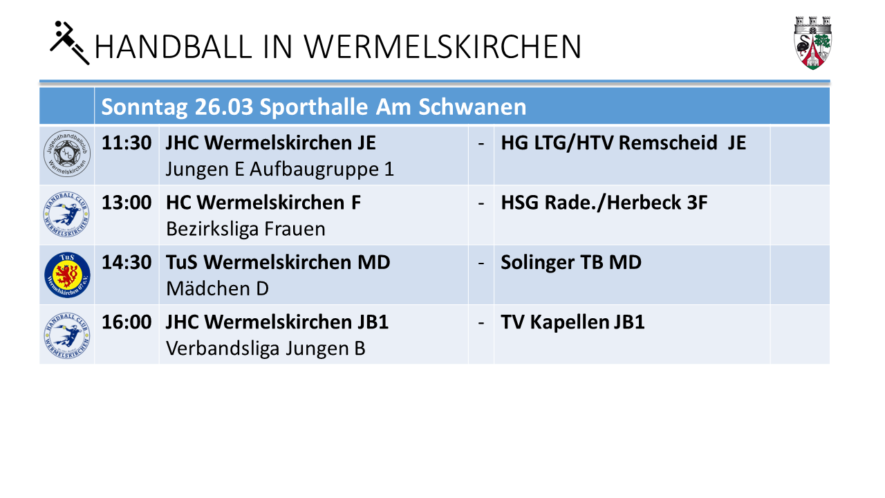 Handball Am Schwaen am 26.3