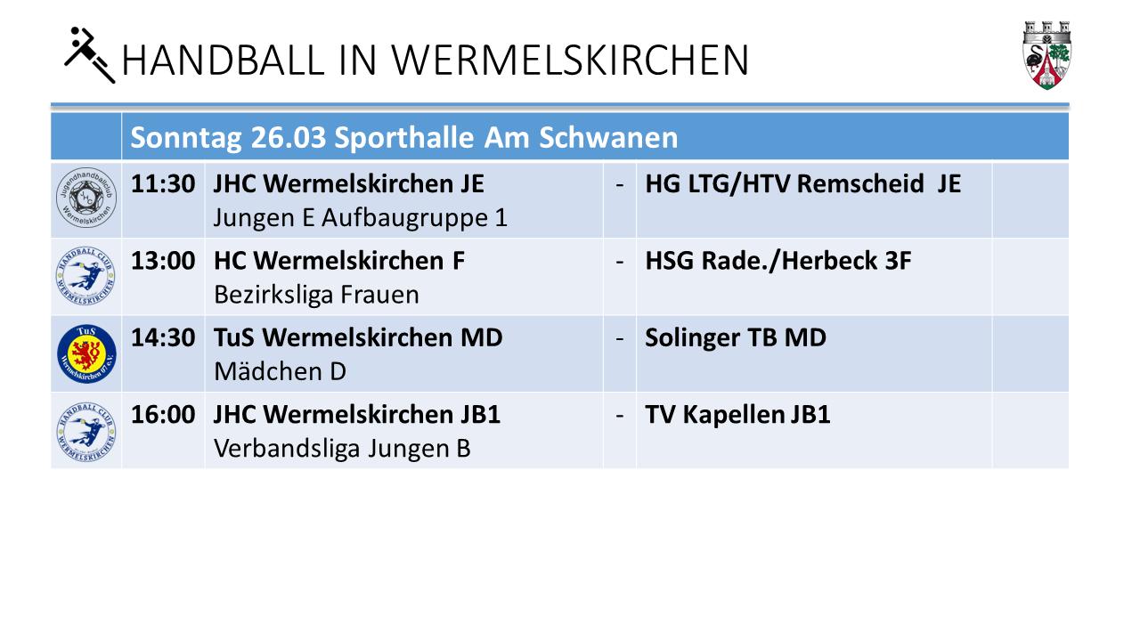Handball Am Schwaen am 26.3