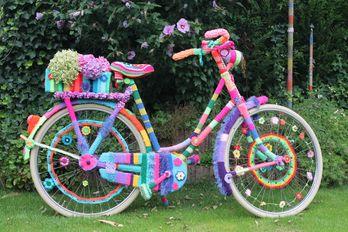 Wolllust Im Haus Der Begegnung Wir Bestricken Ein Altes Fahrrad