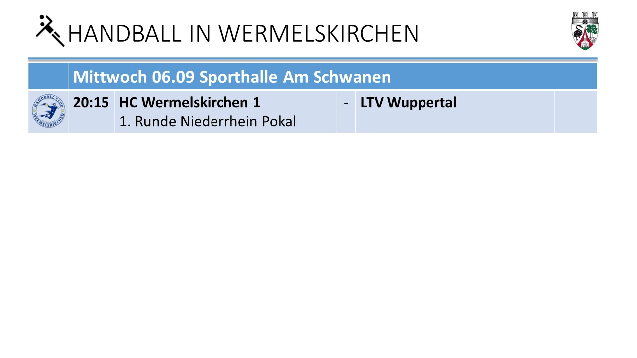 HVN Pokal 1 Runde 6.9